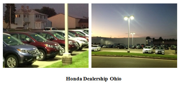 Honda Car Dealer Parking Lot